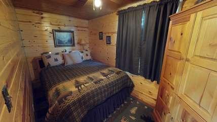 Bedroom with comfortable queen matress