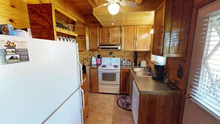 Fully equipped kitchen just bring food