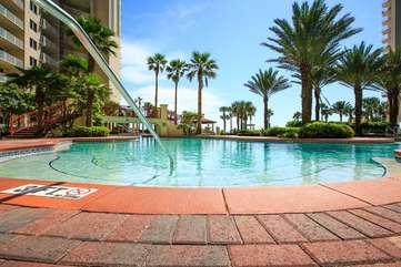 Pool deck area