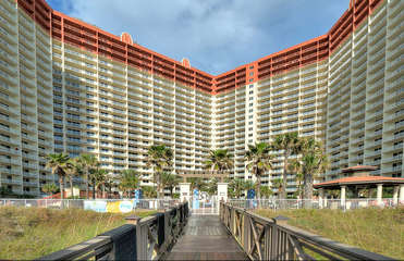 Beach access from the pool deck area