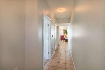 Hallway entrance into the room