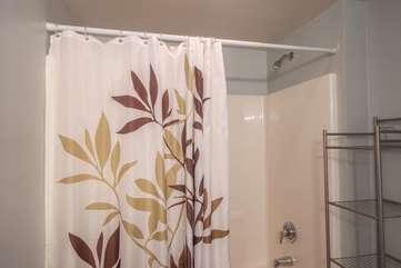 Spacious shower in master bathroom