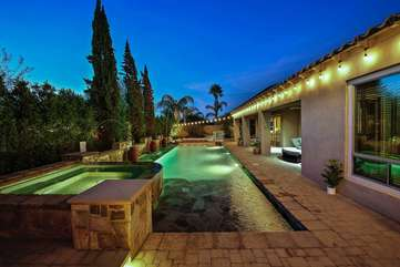 Party lights can turn night into day outback but they are also on a dimmer to adjust the