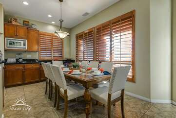 Large indoor dining table for 8