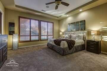 Master bedroom. Bedroom 1