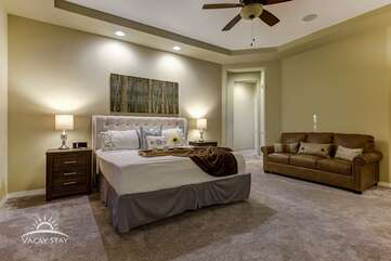 Fold out couch in master bedroom sleeps another 2