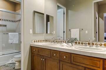 Bathroom 4 Full Bath dual sinks