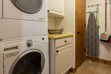 Laundry room with private washer and dryer