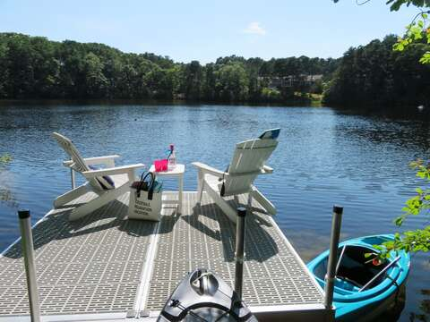 Take one of the kayaks out for an adventure on the pond - 162 Owl Pond Brewster Cape Cod - New England Vacation Rentals