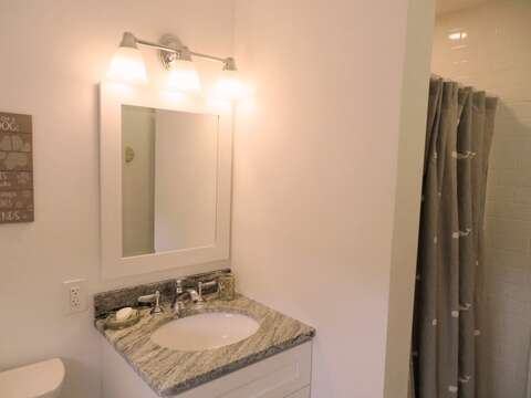 Full bath on the 2nd floor off of the hall - 162 Owl Pond Brewster Cape Cod - New England Vacation Rentals