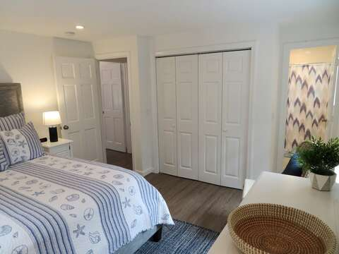 View of the Master bedroom with en suite bath - 162 Owl Pond Brewster Cape Cod - New England Vacation Rentals