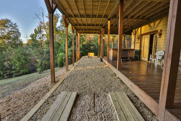 For the competitive family, enjoy a game of HorseShoes at the Wonderful Horseshoe Pit located next to the Hot Tub Deck
