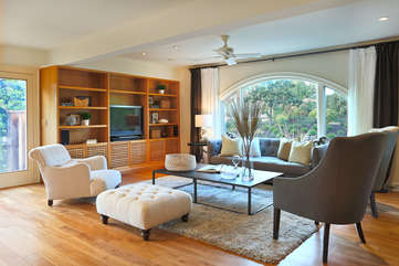 Entertain friends and share the good life in the spacious, stylish living room