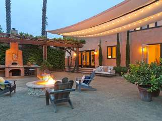 Cozy up to the fire pit, share stories and laughs, and let the evening evolve naturally
