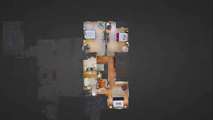 3-D virtual reality upstairs floor plan