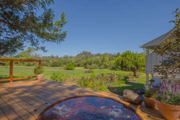 Wine Country bliss awaits — your private hot tub in paradise.