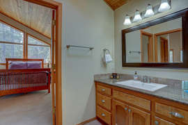 Hall bathroom - access to upstairs bedroom