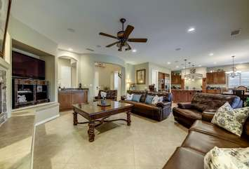 Large open floor plan with 60