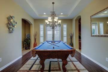 A pool table is a MUST for a vacation rental
