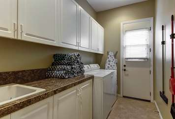 Laundry room comes with plenty of detergent for your convenience