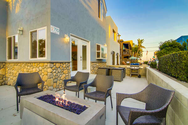 Front Patio with Fire Pit