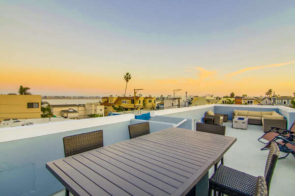 Roof Deck with Ocean and Bay Views