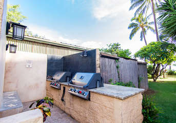 Enjoy gas grills during your stay