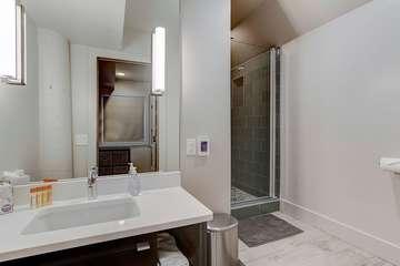 Basement level master Bathroom