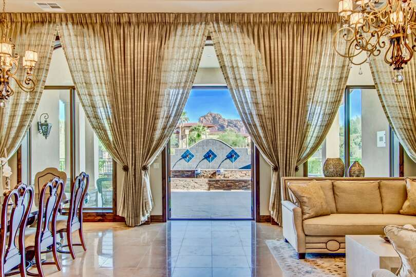 Imagine looking out and seeing the mountains framed by the large floor to ceiling windows