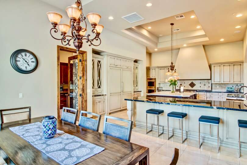 In this open concept floor plan, seamlessly move through rooms