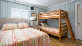 Queen Bed and Twin-Over-Twin Bunks