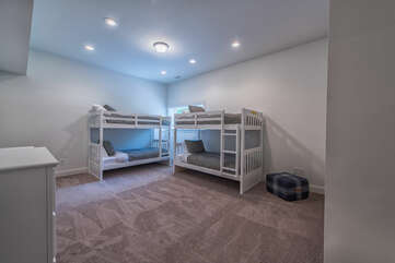 Lower level bunk room - perfect for the kiddos!  Sleeps 4.