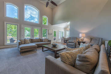 Gorgeous 2 story windows giving all the natural light.