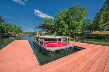 Pontoon rentals available, right at your very own dock.  Inquire within for pricing.