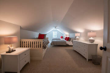 Kids room! 2 queen beds and a twin with trundle.  Sleeps 6!