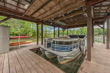 Pontoon available right at your dock - inquire about rentals!