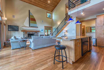 Be sure to invite a chef along, they will feel apart of all the bonding, with the open concept living & kitchen areas.