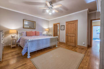 Main level master bedroom - king size bed.  Very spacious.