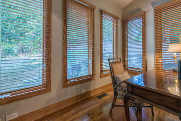 Office off main level master bedroom - bring your work and escape to this quiet space.