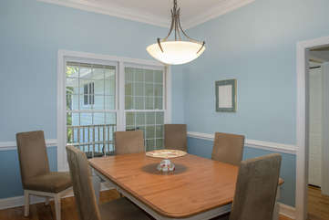 Dining room seating for six