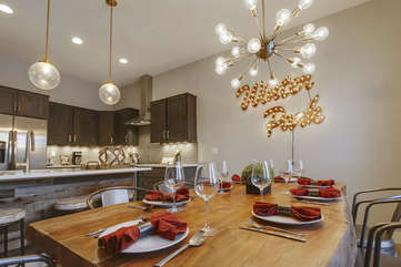 Large custom dining table