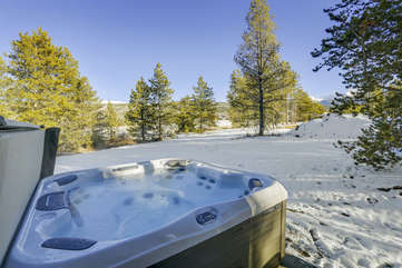 New hot tub with fantastic views