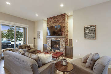 Large living area with fantastic views