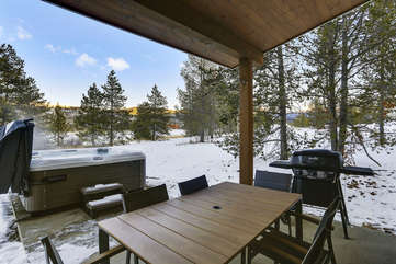 Covered patio with great views