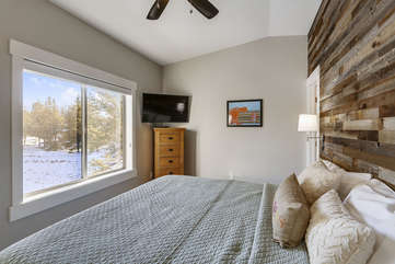 Master bedroom with great views