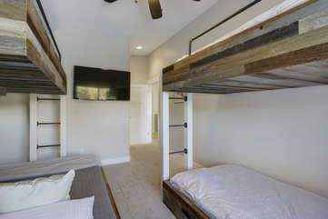 Bunkroom with TV