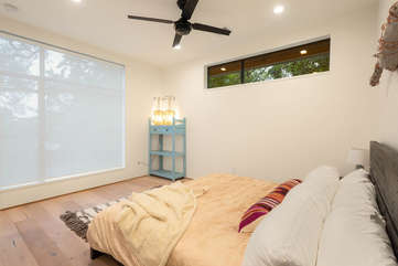 All rooms feature dual blinds — room darkening, or solar screens to enjoy a view and privacy at the same time.