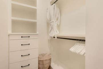 Master bathroom closet