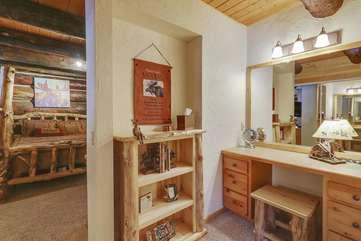 Guest bedroom vanity area