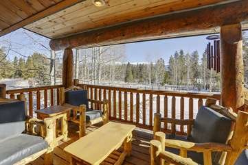 Covered deck with amazing views